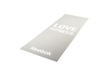 Тренировочный коврик (мат) для фитнеса тонкий Love(серый)
