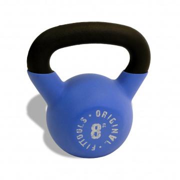 Гиря 8 кг обрезиненная цветная (синяя)