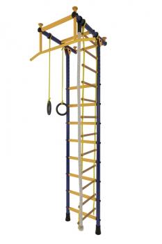 Детский спортивный комплекс Лидер Г-01 с турником сине-жёлтый